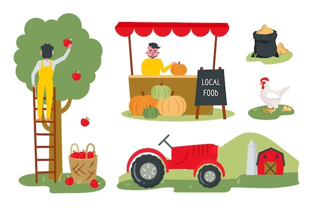 Concept d'agriculture biologique