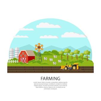 Concept d'agriculture et d'élevage