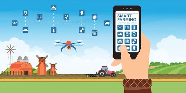 Concept d'agriculture intelligente