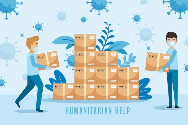 Concept d'aide humanitaire