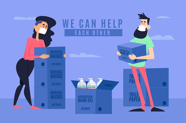 Concept d'aide humanitaire