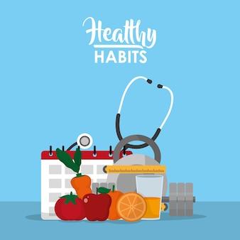 Concept d'alimentation saine habitudes alimentaires