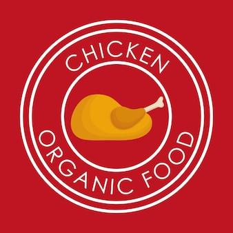 Concept d'aliments sains et biologiques avec design d'icône