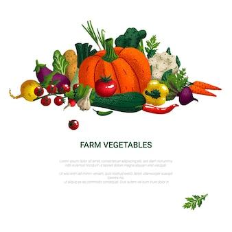 Concept d'aliments sains de légumes