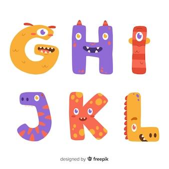 Concept d'alphabet halloween monstre