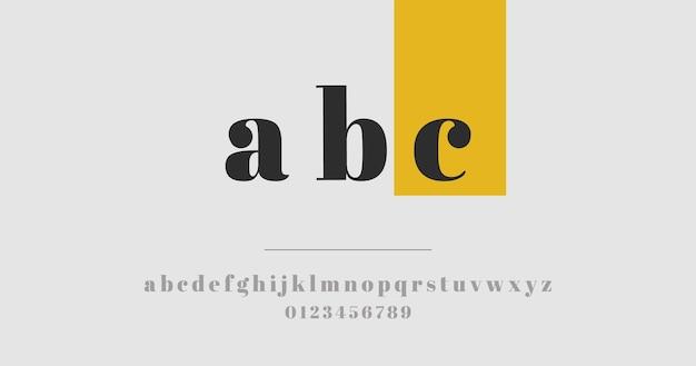 Concept de l'alphabet minimal élégant