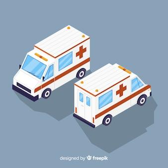 Concept d'ambulance isométrique