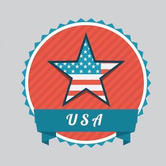 Concept américain avec ruban