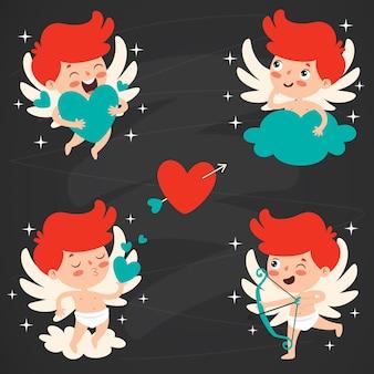 Concept d'amour avec personnage de dessin animé