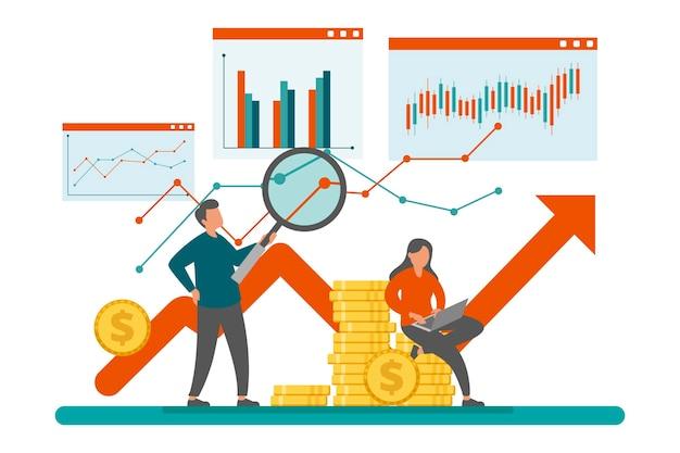 Concept d'analyse boursière
