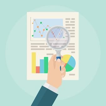 Concept d'analyse de données. audit financier.