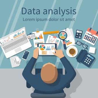 Concept d'analyse de données.