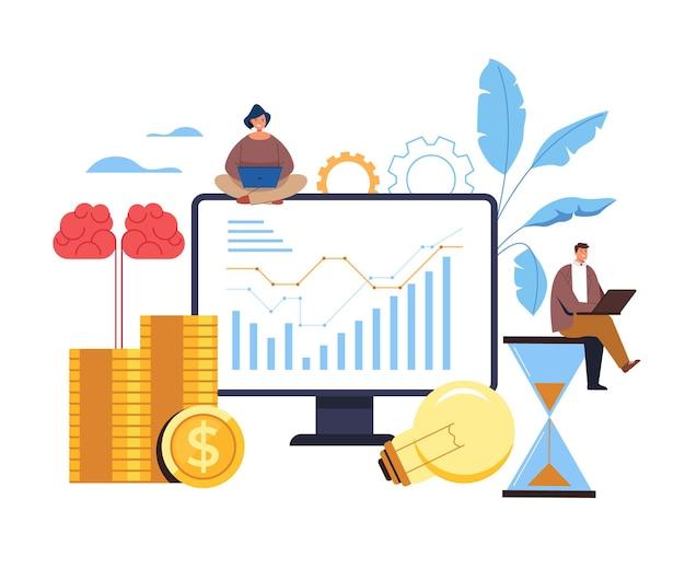 Concept d'analyse de remue-méninges de stratégie de planification d'idée d'entreprise