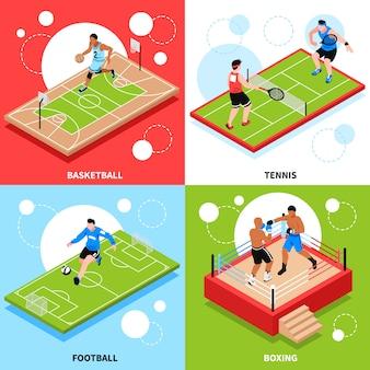 Concept d'anneau de terrain de sport