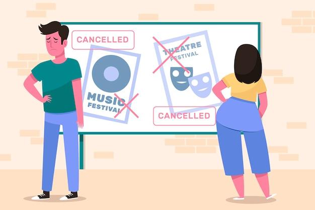 Concept d'annonce d'événements annulés