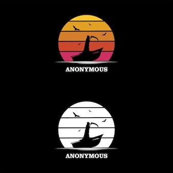 Concept anonyme moderne avec un design plat