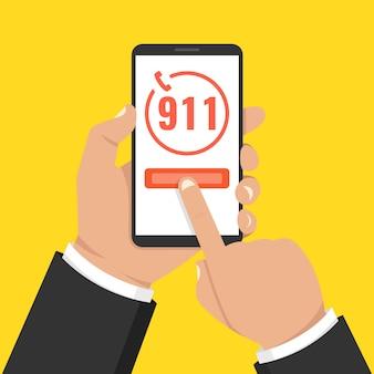 Concept d'appel d'urgence 911