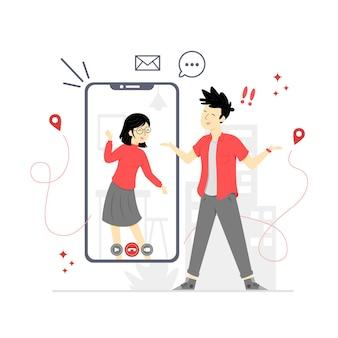 Concept d'appel vidéo