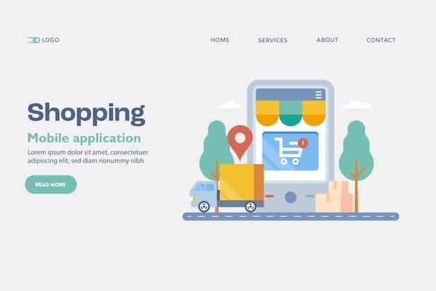 Concept d'application d'achat