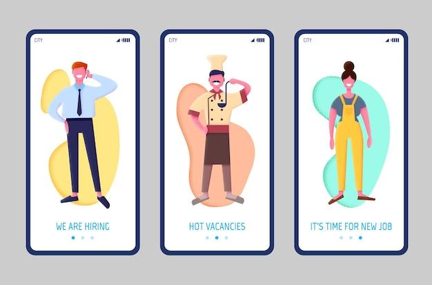 Concept d'application de l'agence d'emploi, plat. concept d'embauche et de recrutement. recherche d'emploi