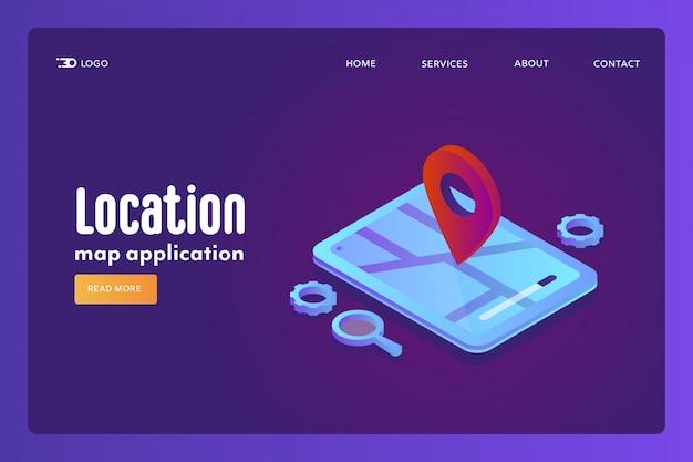 Concept d'application de carte de localisation