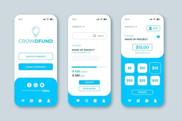 Concept d'application de financement participatif