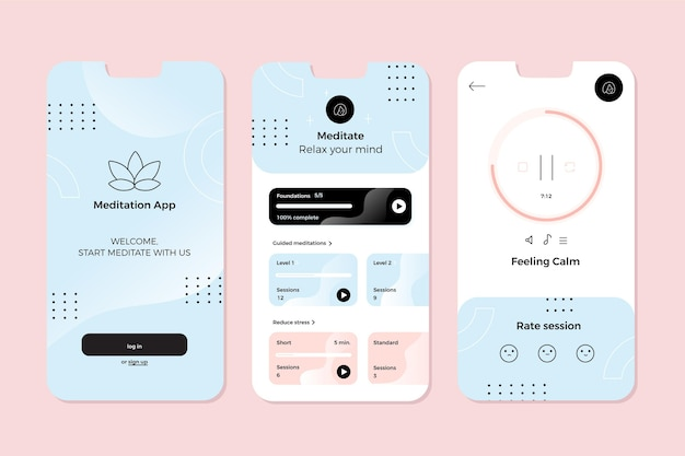 Concept d'application de méditation