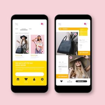 Concept d'application de mode shopping