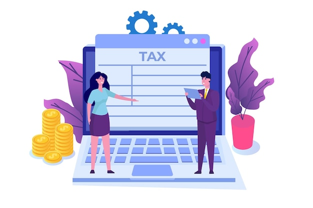 Concept d'application de paiement d'impôt en ligne