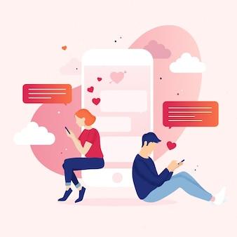 Concept d'application de rencontres