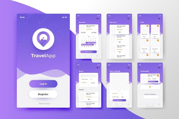 Concept d'application de réservation de voyage