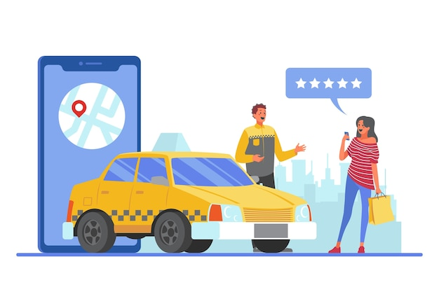 Concept d'application de taxi
