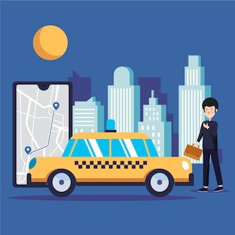 Concept d'application de taxi
