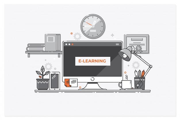 Concept d'apprentissage en ligne, éducation en ligne