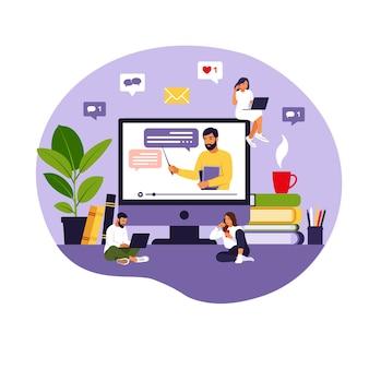 Concept d'apprentissage en ligne.