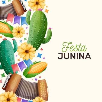 Concept aquarelle festa junina