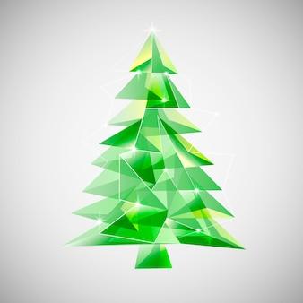 Concept d'arbre de noël avec dessin abstrait
