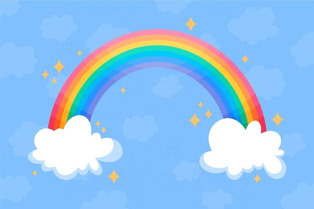 Concept d'arc-en-ciel dessiné à la main