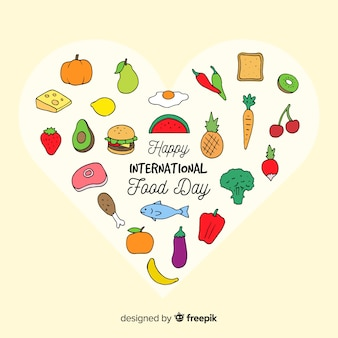 Concept d'arrière-plan de la journée mondiale de l'alimentation