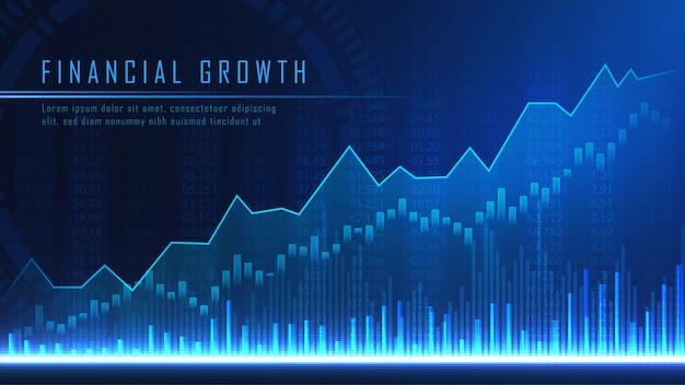Concept art de la croissance financière