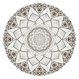 Concept d'art de ligne de mandala unique