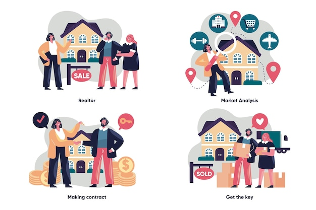 Concept d'assistance de l'agent immobilier