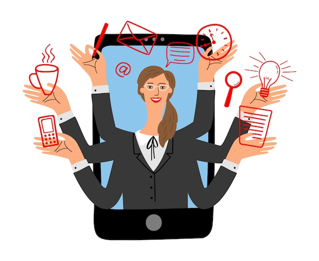 Concept d'assistant en ligne