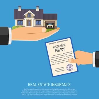 Concept d'assurance immobilière