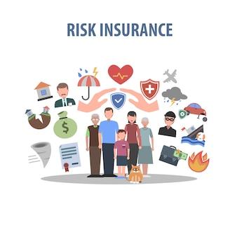 Concept d'assurance plat