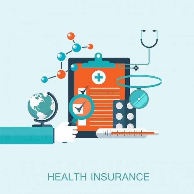 Concept d'assurance soins de santé