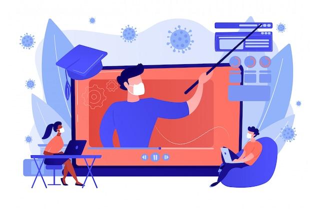 Concept d'atelier en ligne.