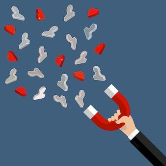 Concept D'attirer Des Clients Et Des Clients Vers Les Entreprises Vecteur Premium