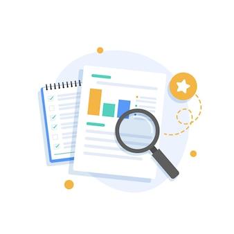 Concept d'audit et d'analyse d'entrepriseaudit du processus fiscal