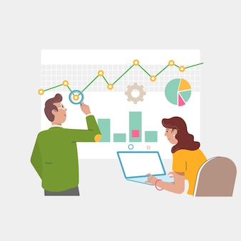 Concept d'audit et de marketing.